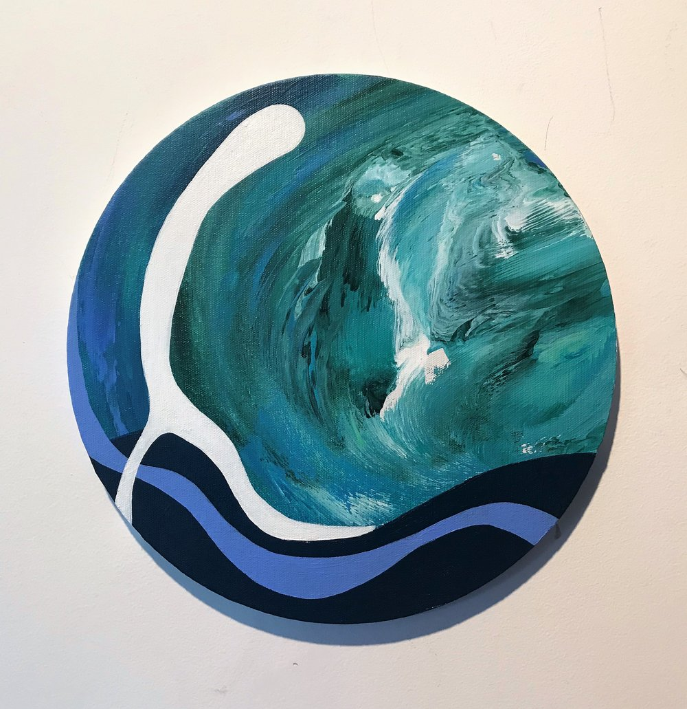 Javier Marten, TIDE, acrylic on canvasm 30 cm. diámeter. 2017.jpg