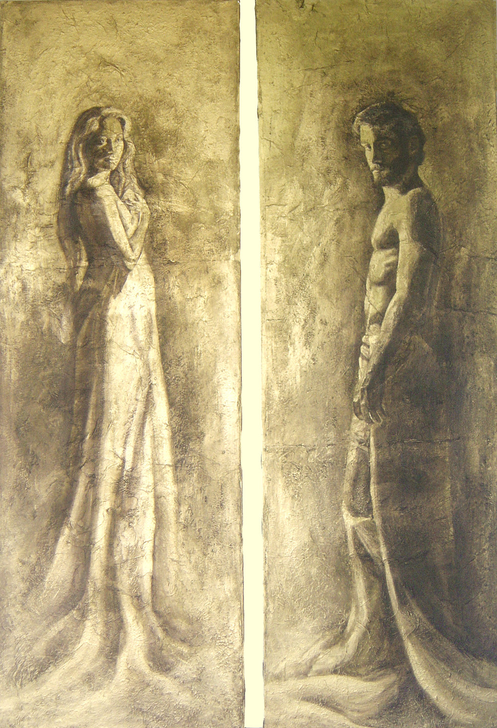 Diptych-Aphrodite & Adonis-{2x(150x50)cm}.jpg