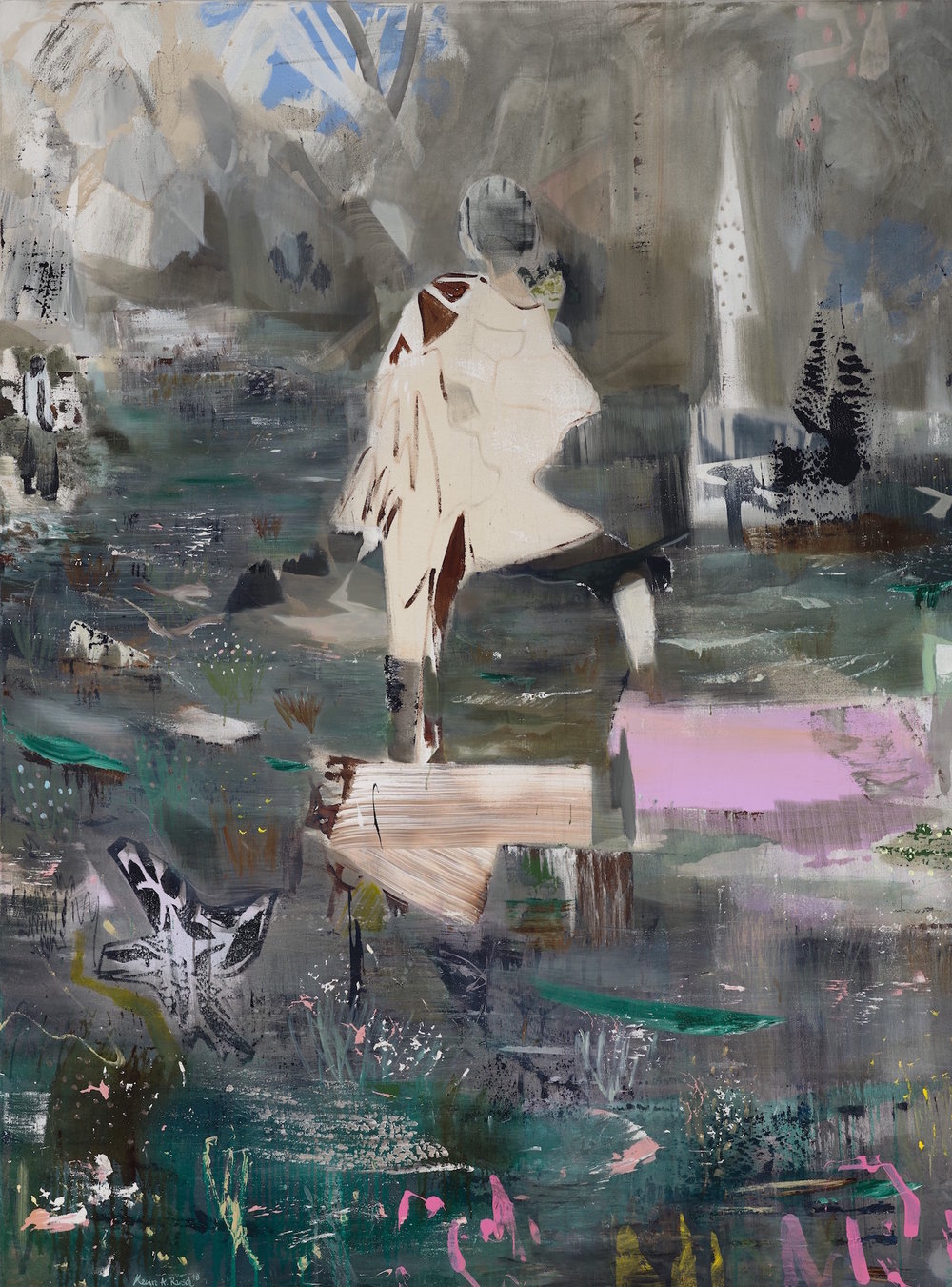 as the bird was singing, mixed media canvas, 200x150cm, 2018.jpg