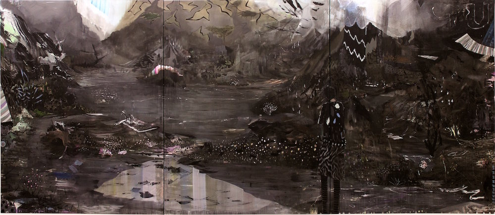 silence is closer, mixed media canvas, 195x450cm, 2016.jpg