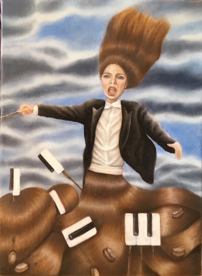 110 - 2016 'Conducting My Life' (30cm X 40cm) oil on canvas.JPG