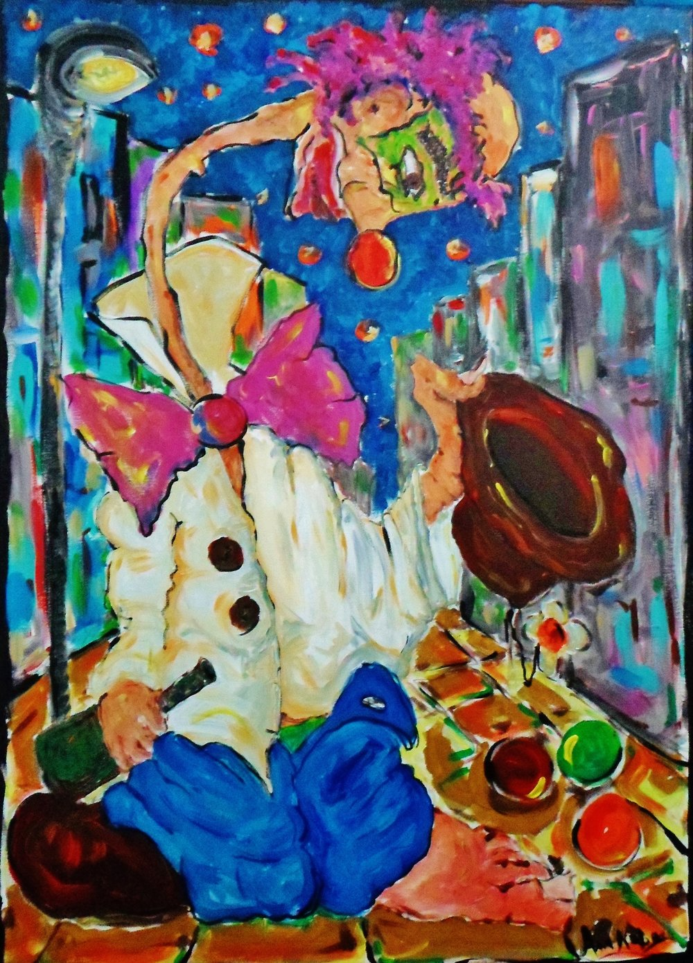 Poor Clown Acrylic on Canvas 50x70cm.JPG