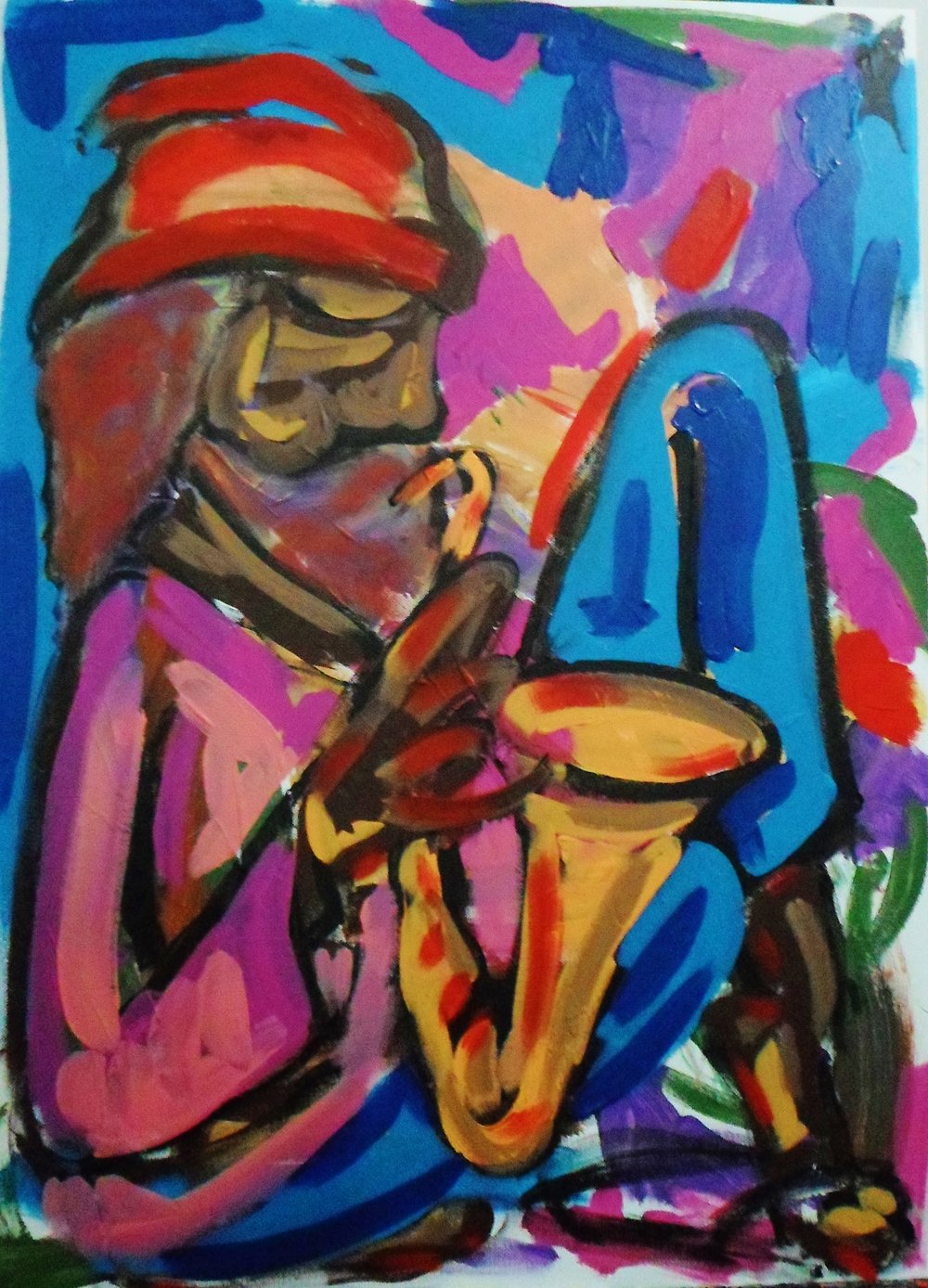 Street Musician Acrylic on canvas 50x70cm.JPG