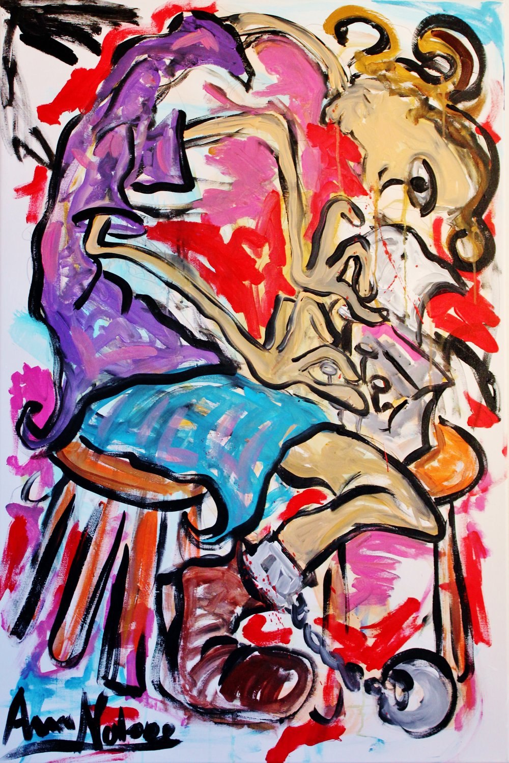 the torture of creation Acrylic on Canvas 80x120cm.JPG