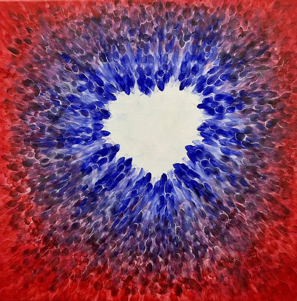 Painting %22Heart beating%22 50x50cm Christine Marie Nobre Mixed Medias.jpg