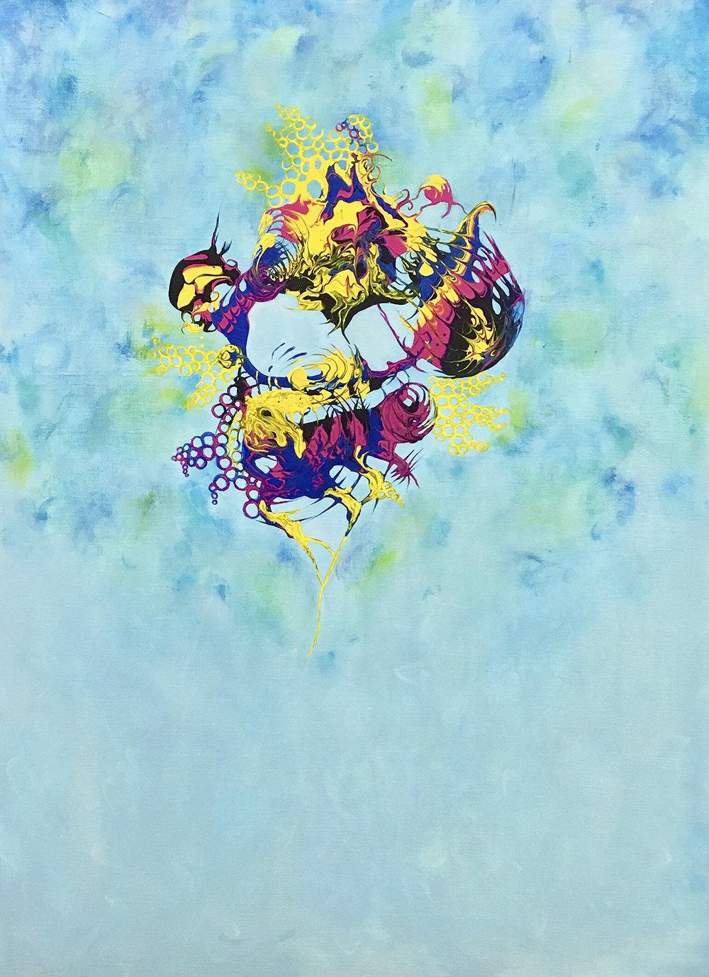 Painting « Vision » 60x80cm Christine Marie Nobre Mixed medias.jpg