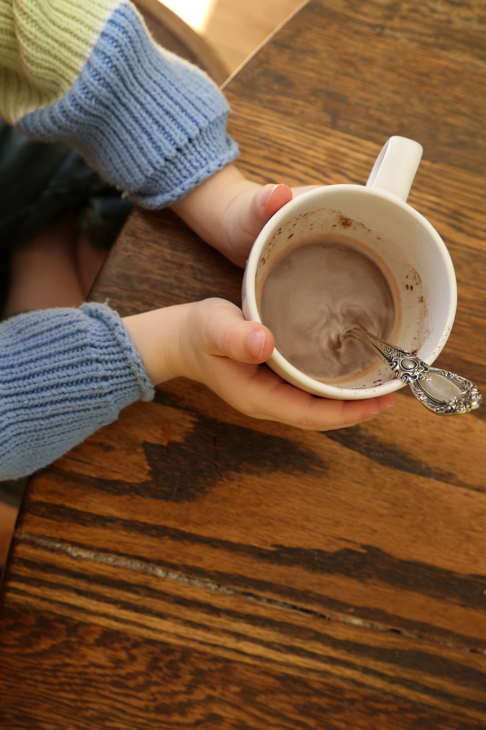 A little hot cocoa to wrap up our morning