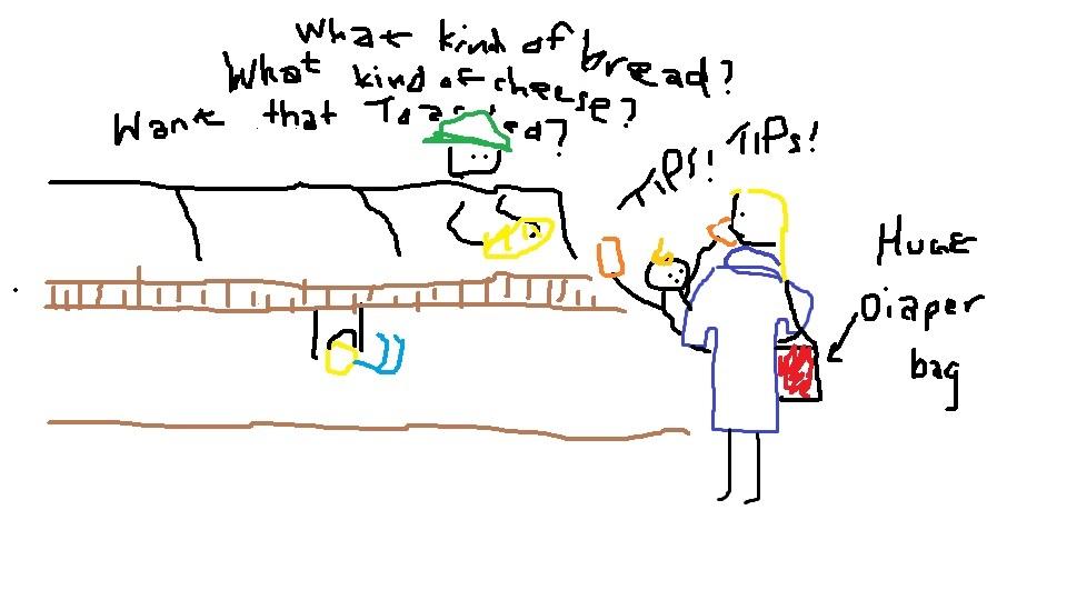 kids at subway