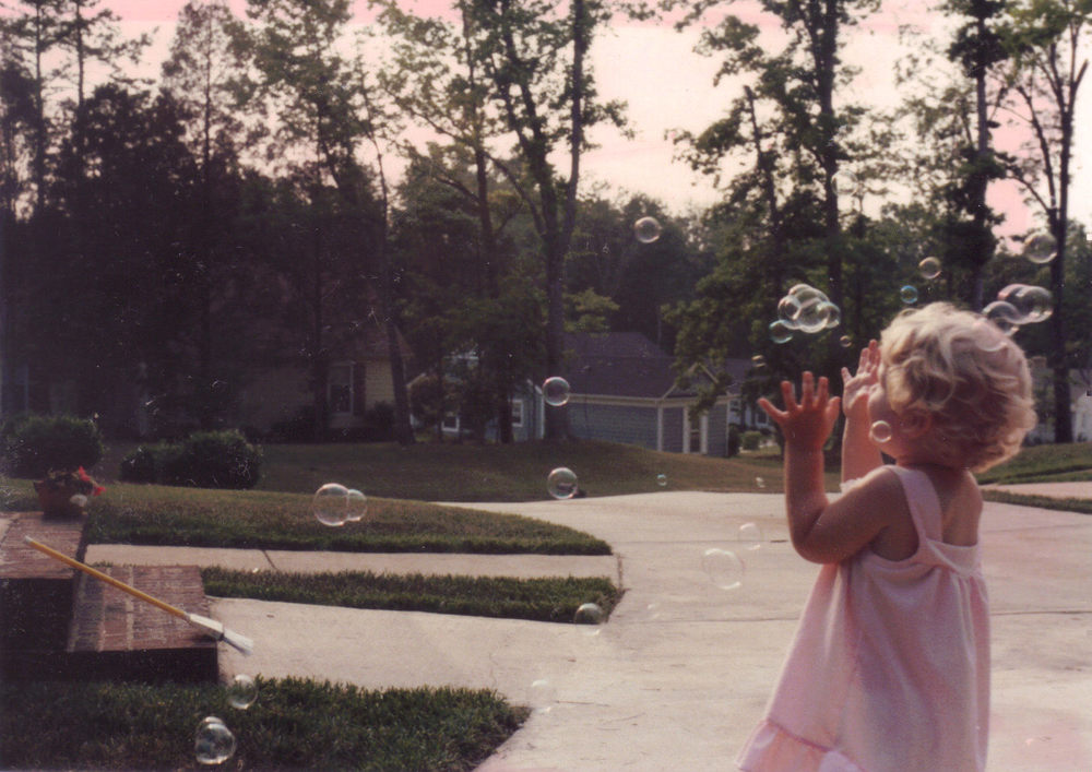 Emily with bubbles