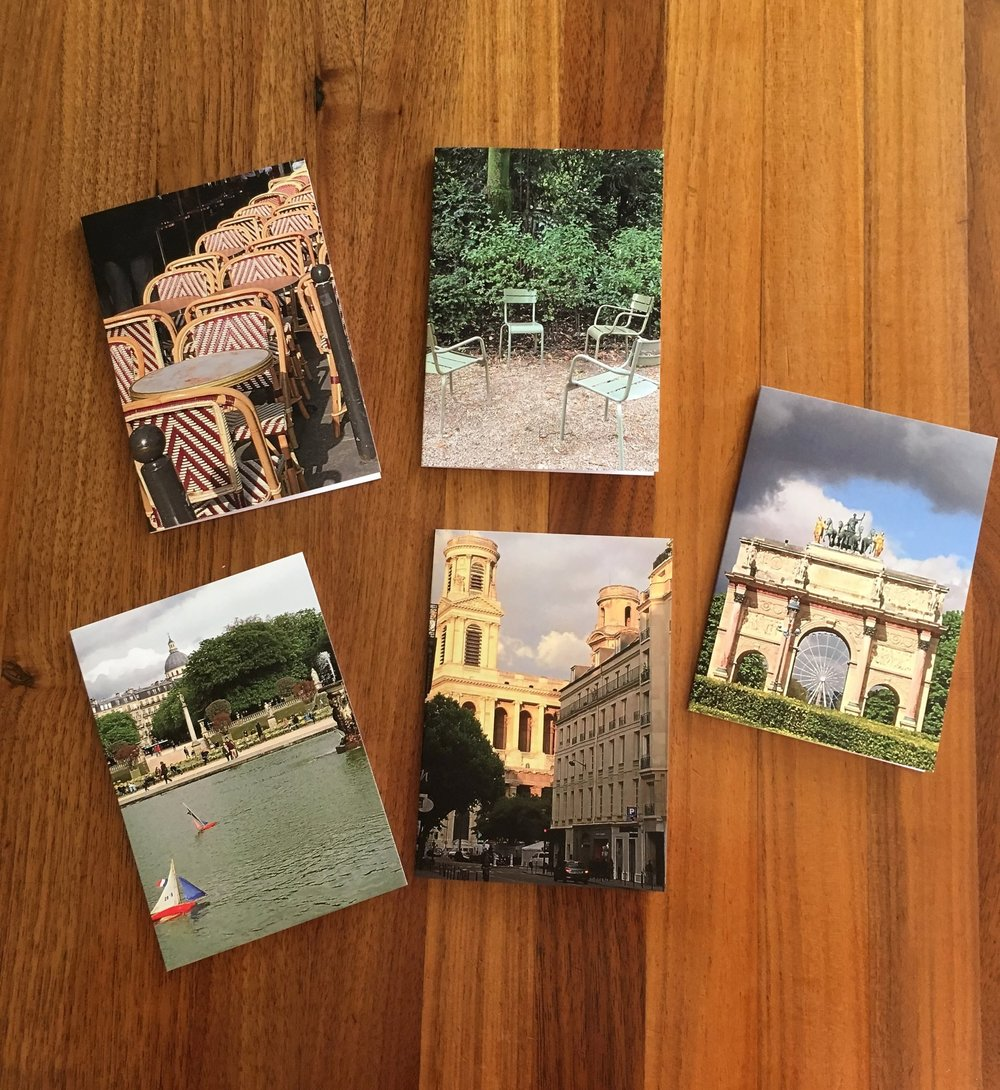 Greeting Cards: Paris Collection $6.50 each