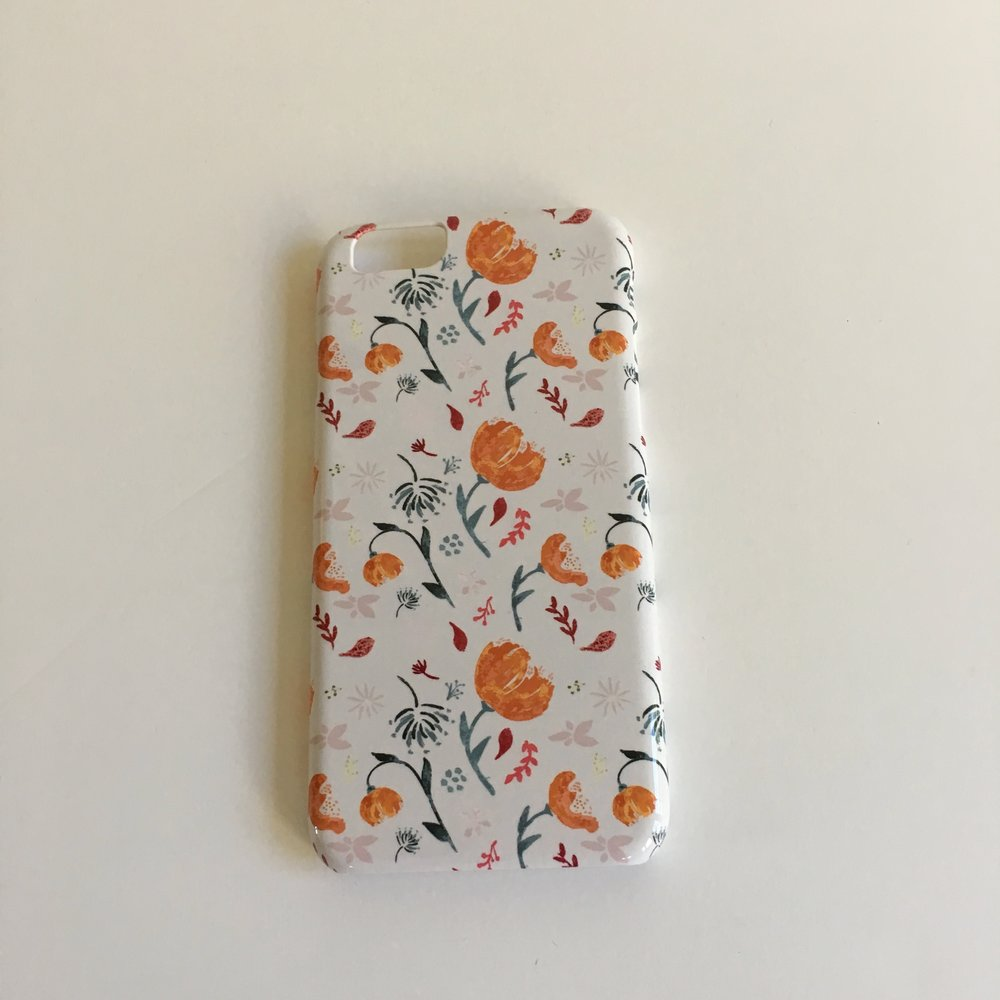 Watercolor pattern - iPhone case