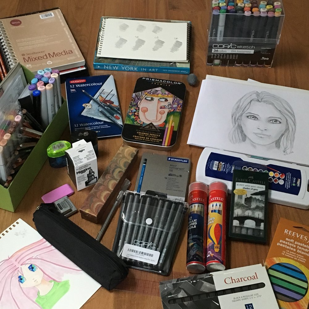 My art supplies mess.