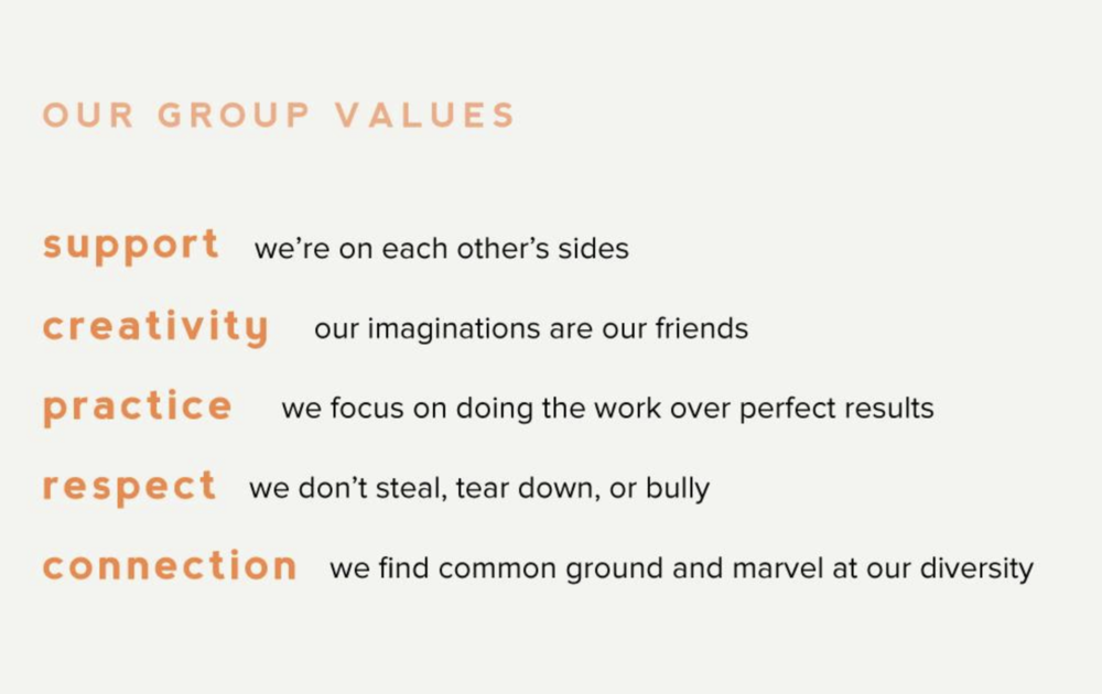Our group values