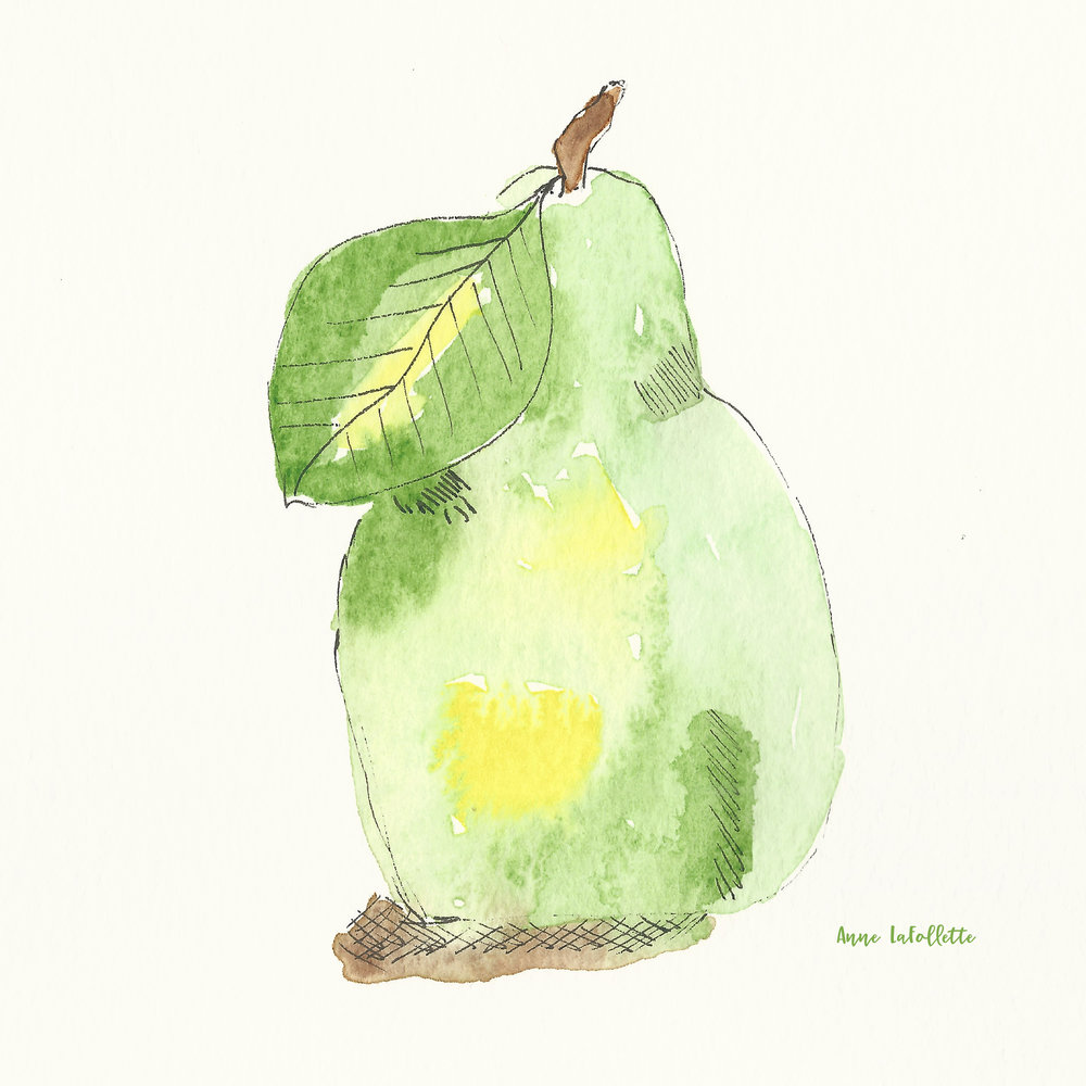 A little pear watercolor...