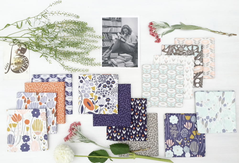 Elizabeth Olwen's Morning Song Collection. Available at Cloud9 Fabrics.