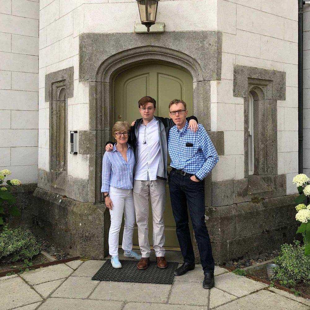 With our son, Matt, in Ireland