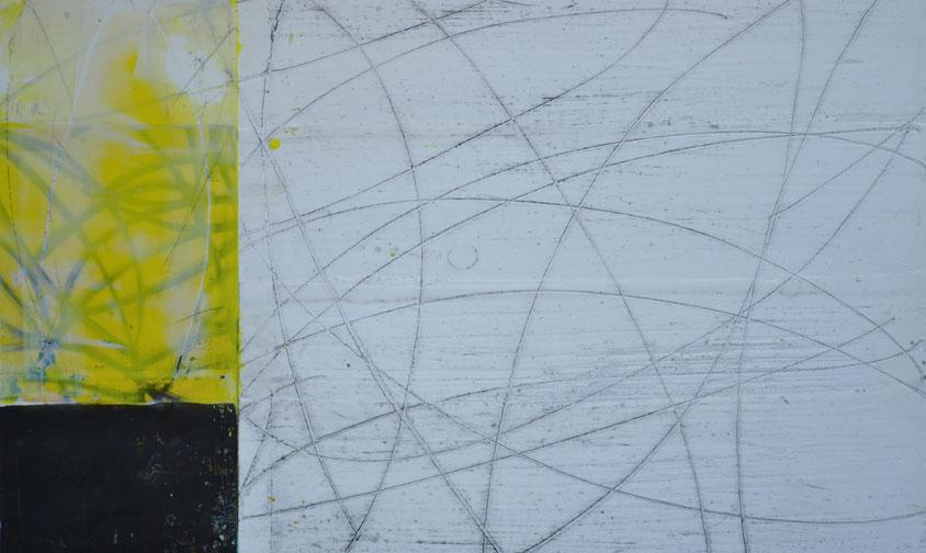 Orbitals- encaustic on paper, 9.5 x 15 inches