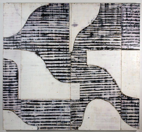 Curved Form  2012-encaustic on wood panel-82 x 86 inches
