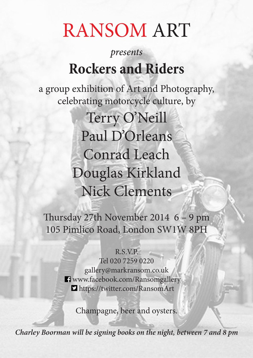 Rockers and Riders Invitation