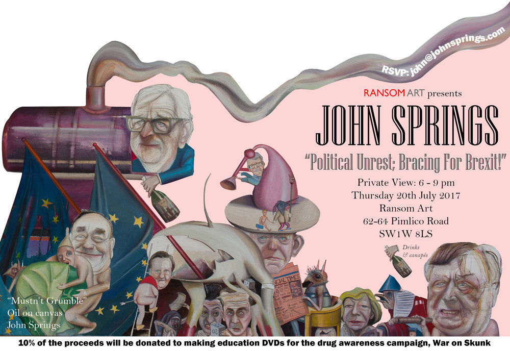 invitation-john-springs-exhibition-political-unrest-bracing-for-brexit-ransom-art-gallery