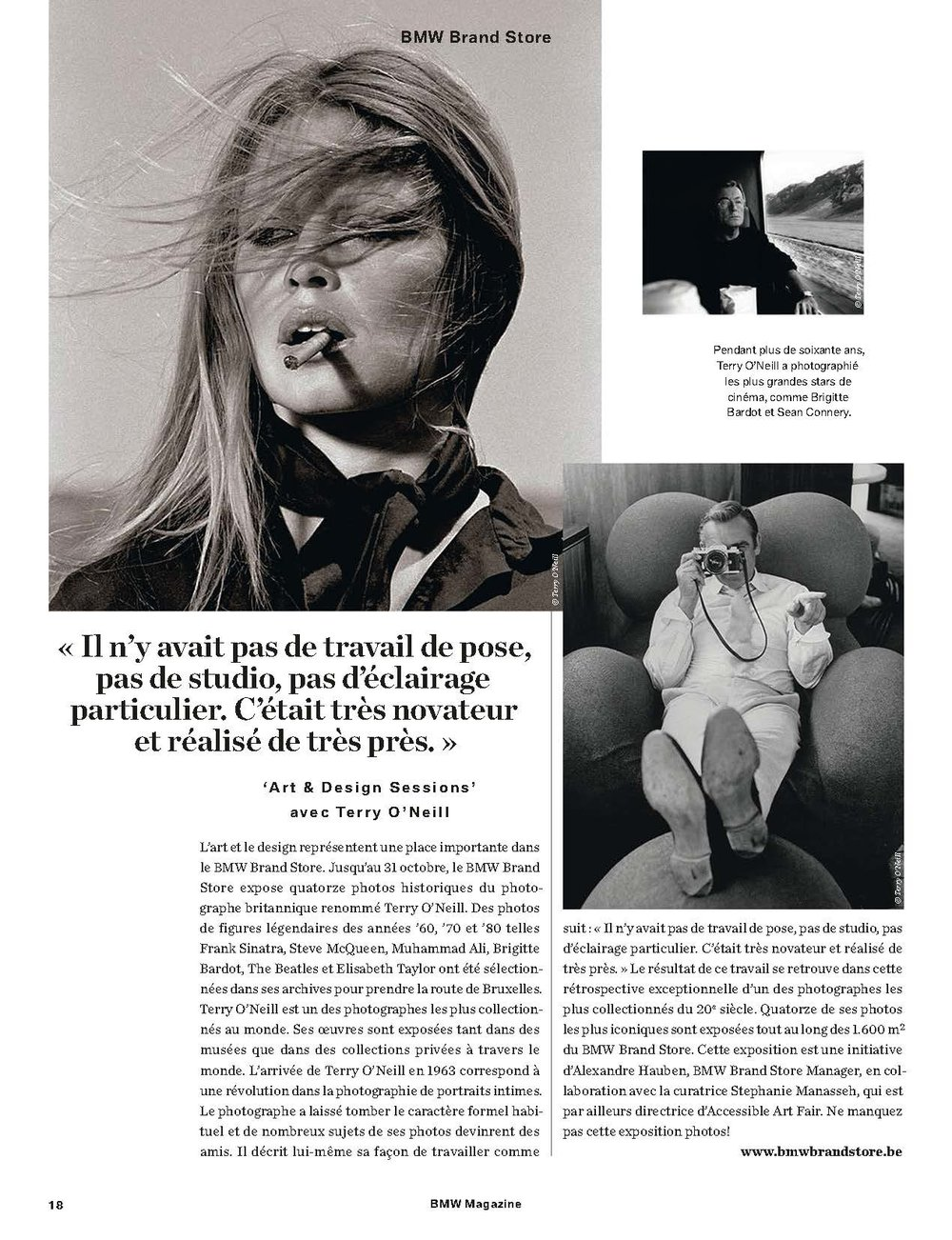 BMW Magazine - Terry O'Neill at Ransom Art