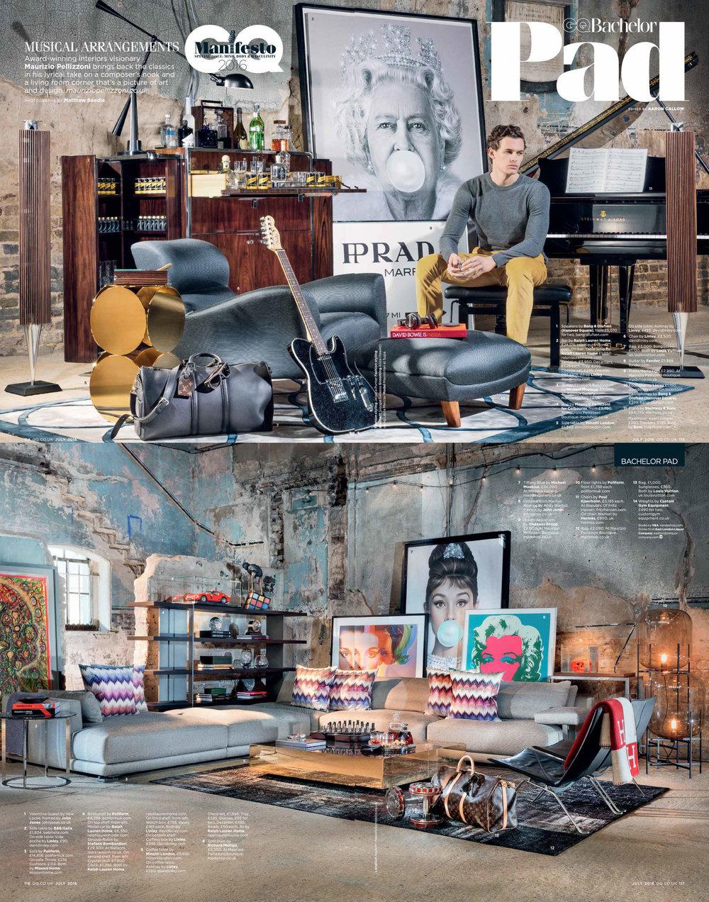 GQ Magazine - Stefano Bombardieri at Ransom Art