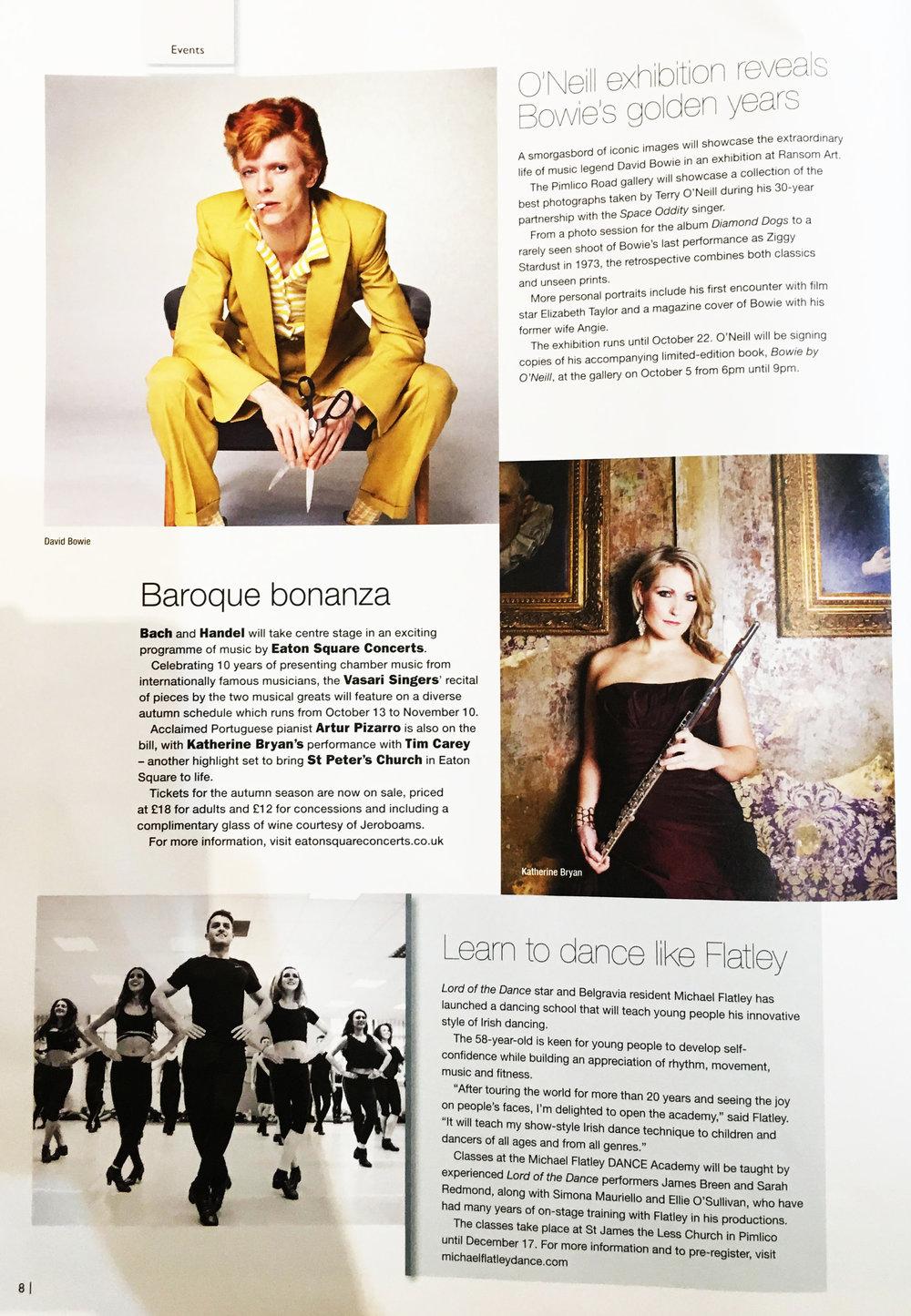Belgravia Magazine - David Bowie Exhibition at Ransom Art