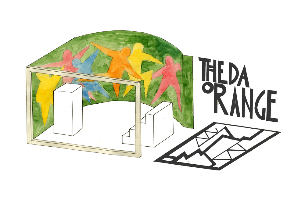 Theda Orange investigating of branding and commerce of art.  The extent to which Theda Orange has existed was through an intervention in local vintage store, Herman Brown. Theda Orange was a window display and a collection of objects for sale. Shopping malls.