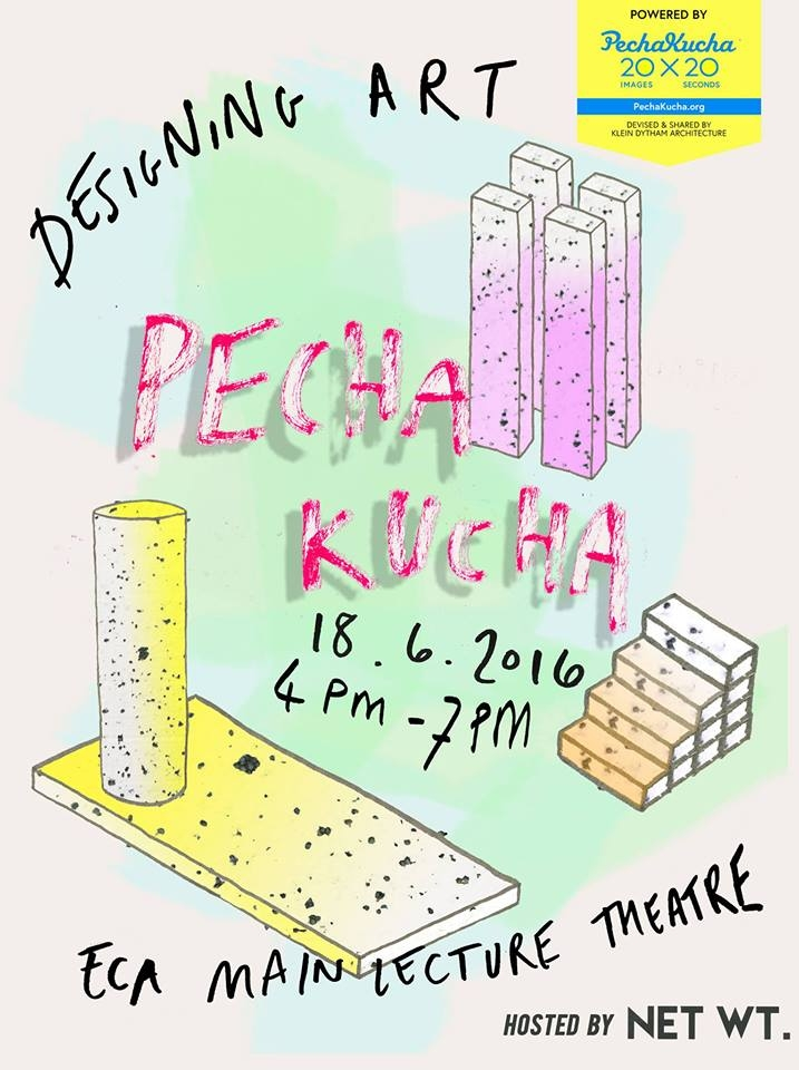 Poster for Pecha Kucha: Designing Art Event