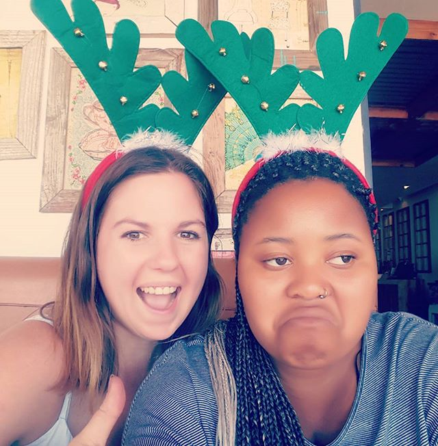 One of us is very excited about Christmas.. #whyamiwearingtheserandierantlers #christmas #christmasspirit #killmenow