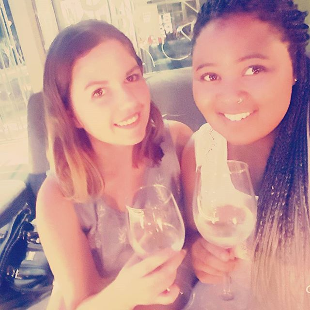 Wine + friends + smiles = happiness