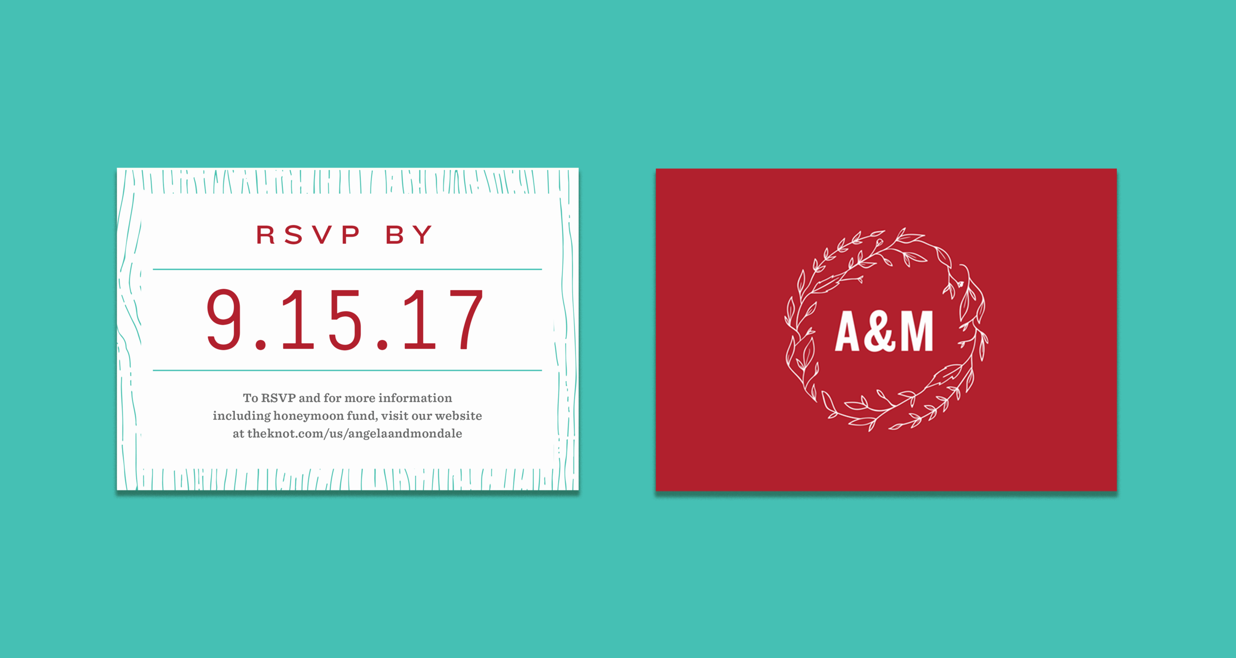 A&M Wedding Invitations — Andy An Creative