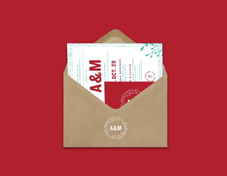 A&M Wedding Invitations — Andy An Creative
