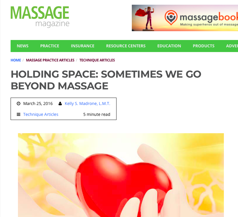 Hey, that's one of my articles! Before MASSAGE Magazine redid their website (and reset the counters)  this article garnered more than 5,600 shares .