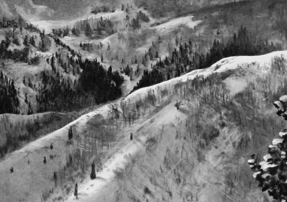 Cascade Peak From Guardsman Pass Winter Detail