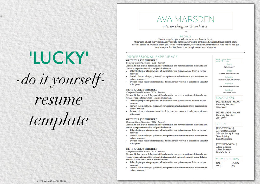 Diy Lucky Resume Template With Cover Letter Reference Pages