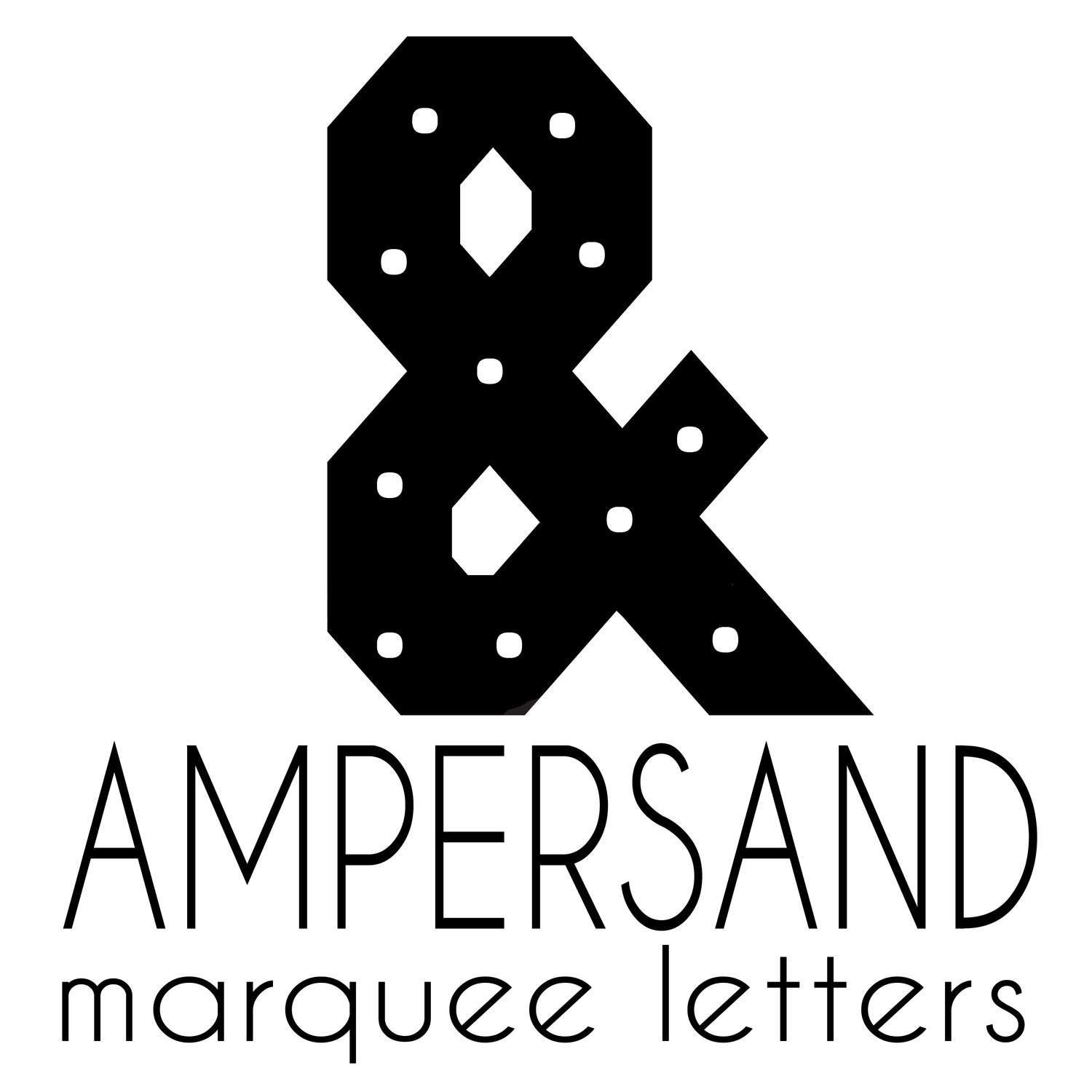 Ampersand Marquee Letters