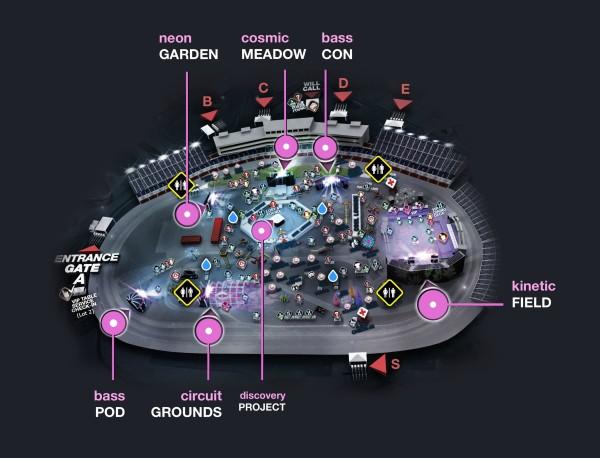 EDC Las Vegas Schedule Set Times EPIC Productions - Edc las vegas map 2016