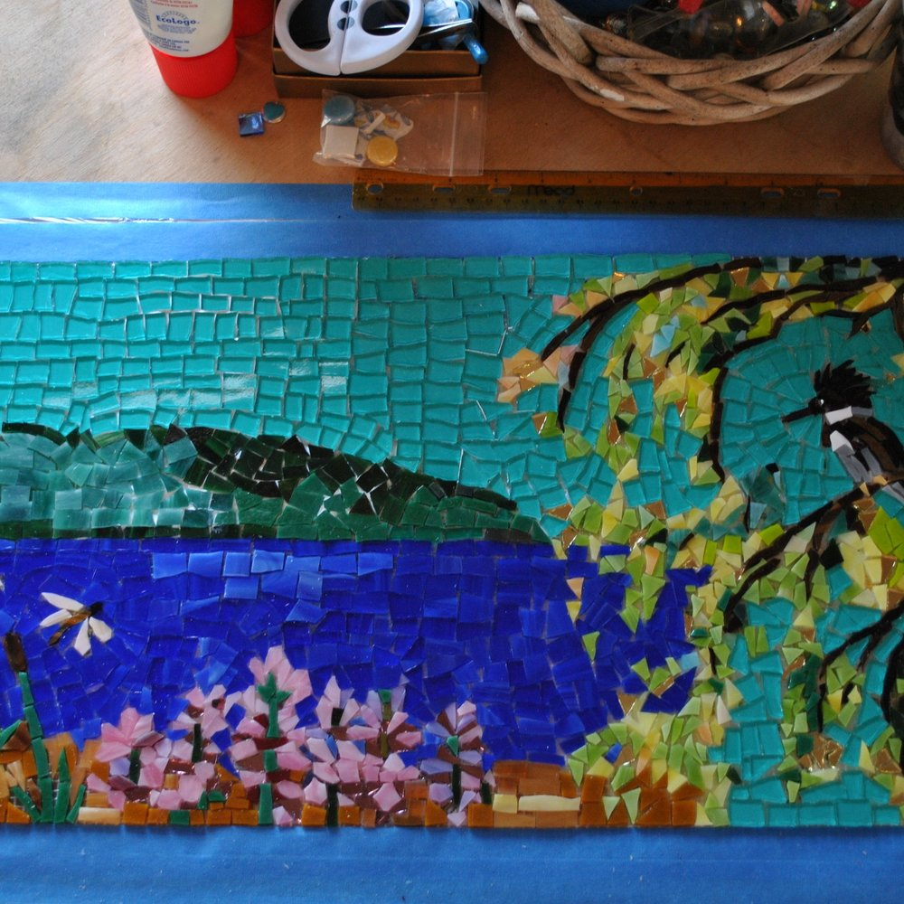 KINGFISHER SHOWER MOSAIC