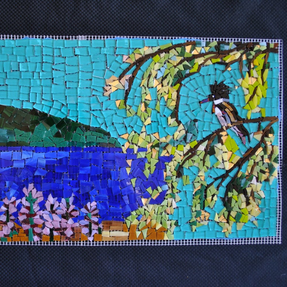 KINGFISHER MOSAIC ON MATTING