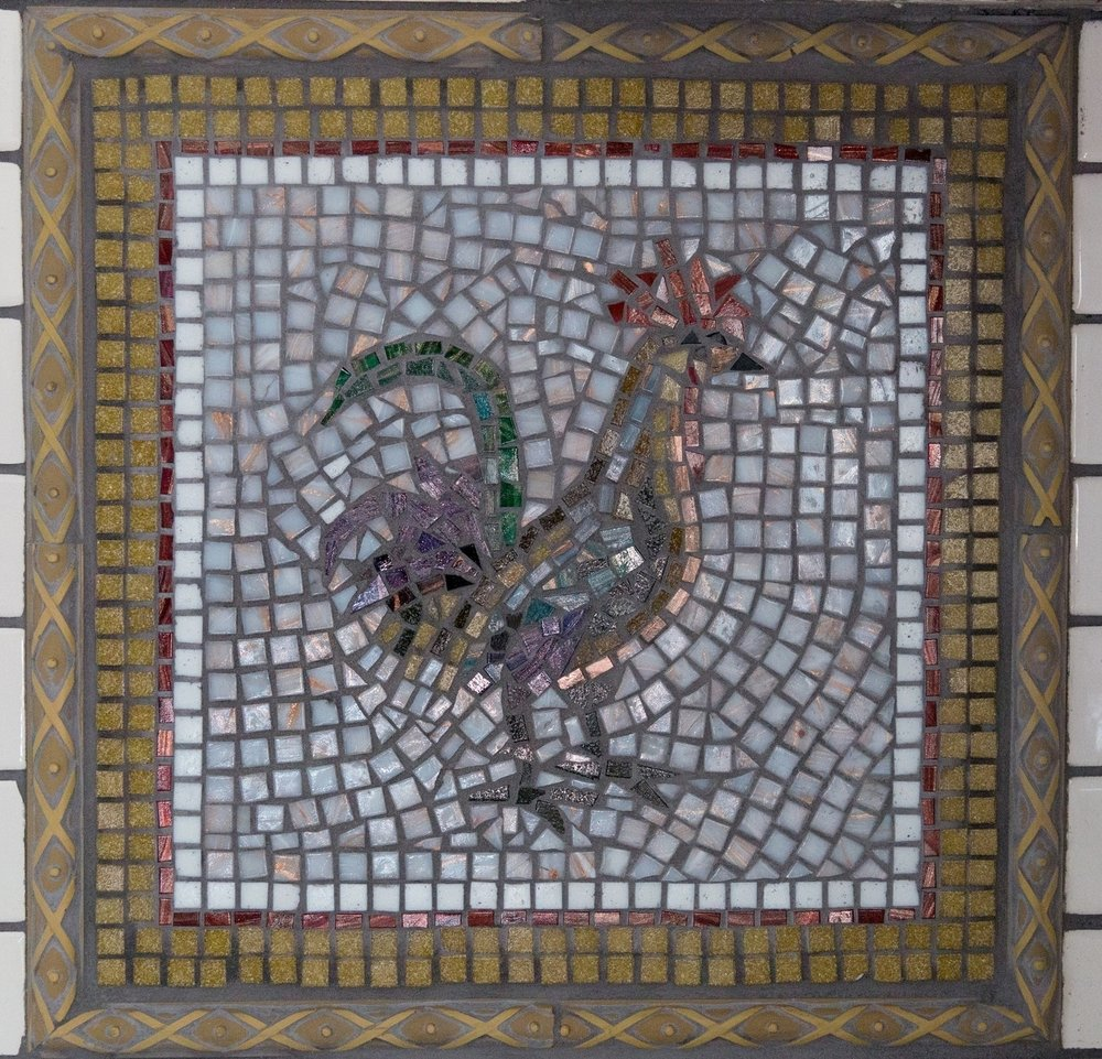 "ROOSTER BACKSPLASH 12"" x 12"""