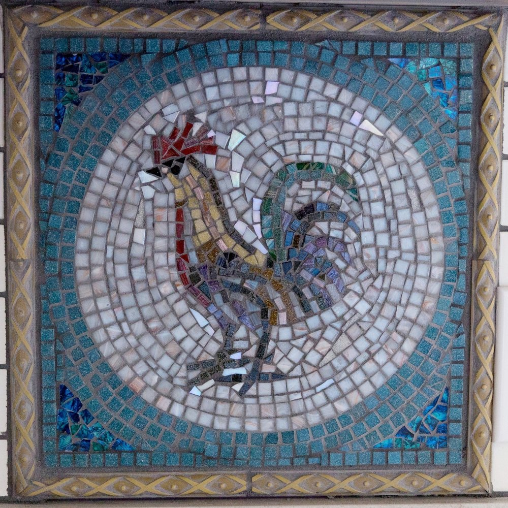 ROOSTER MOSAIC INSET