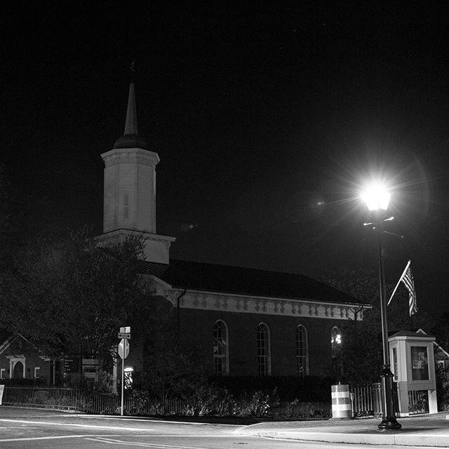 Middleburg United Methodist @ night. #middleburgva #middleburginbw #middleburgva