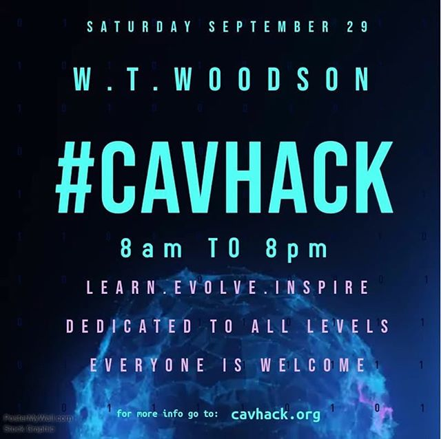 ATTENTION ALL HACKERS! W. T. Woodson High School is hosting their first ever hack-a-thon on Saturday, September 29th from 8am-8pm! Open for grades 6-12. Check out the link below for more information!  http://cavhack.org @fcps_news