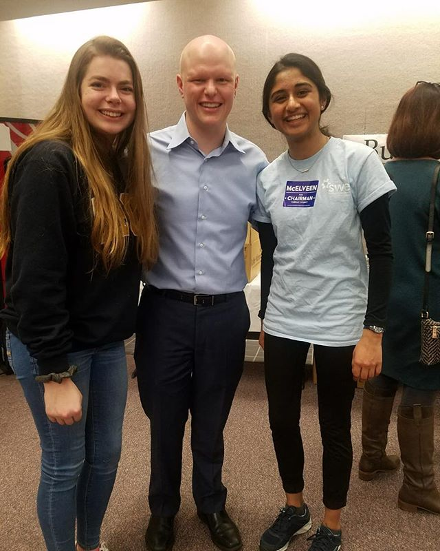 Two of our senior leaders got the chance to meet Ryan McElveen yesterday at his Winter Fest where he kicked off his campaign for Fairfax County Board Chair. So cool! #morethanrobots #firstinstem #closefcps