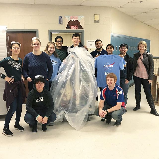 Thank you so much to Danny from @andymarkinc for helping us trouble shoot our bot during our out of bag time this week! We are so grateful to have been chosen for the Adopt an Engineer program and are super excited for our first competition this weekend! #omgrobots #firstinspires #andymarkadoptanengineer