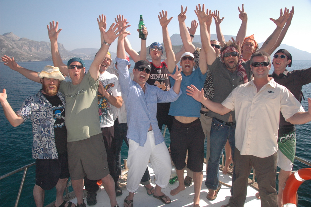 The Boys on a 2012 trip to Kalymnos