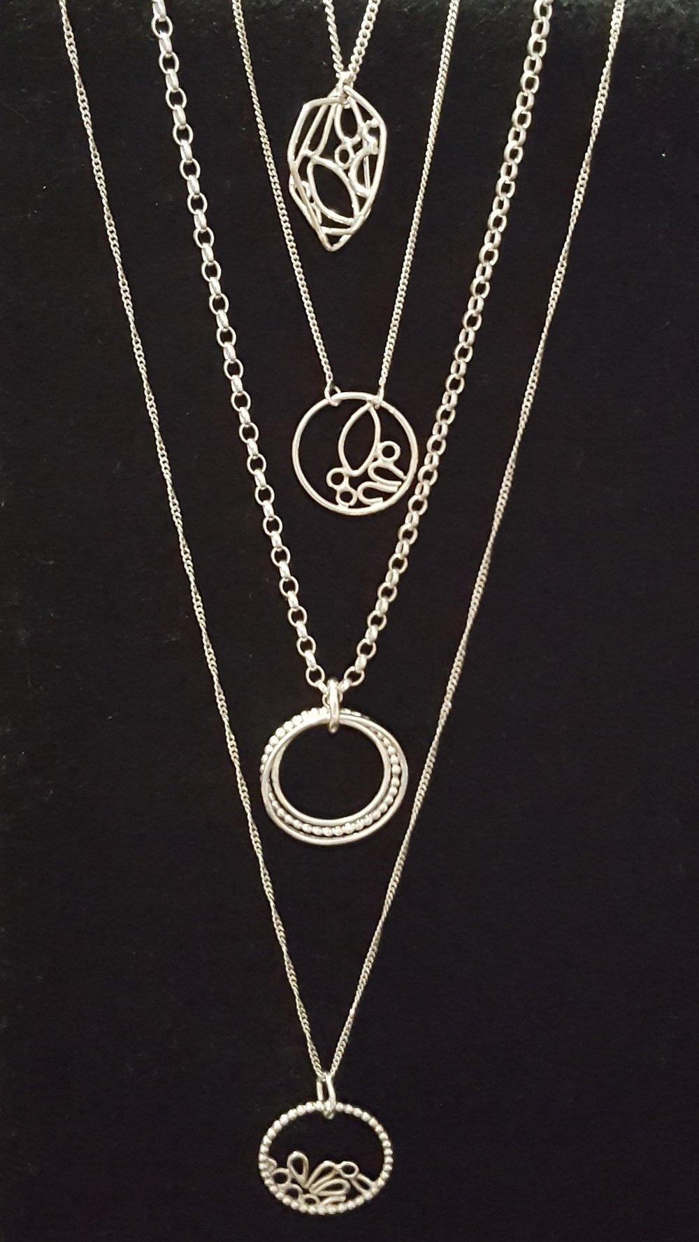 Necklaces, Silver £65