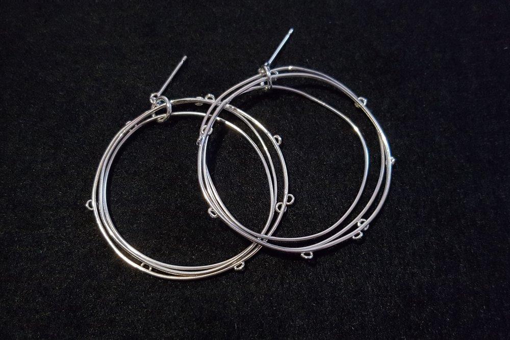Dotty Hoops, Silver £120
