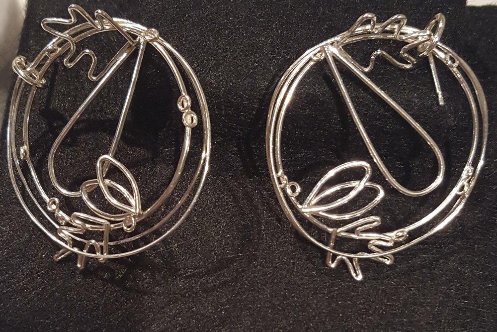 Detail Hoops, Silver £140